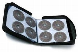 Malette pour 300 CD/DVD Simili Cuir Noir  Pièce/Unit