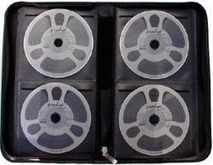Malette pour 64 CD/DVD Simili Cuir Noir  Pièce/Unit