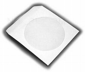 Pochettes papier blanches  CD-DVD - rabat gommé -100 pièces  Boite/Box